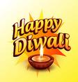happy diwali greeting vector image