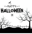 happy halloween grave tree branch background vector image vector image
