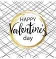 happy valentines day gold circle with calligraphy vector image vector image