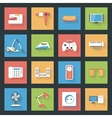 Home Furniture and Appliances flat icons set with vector image