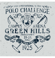 Horseback polo sport challenge vector image vector image