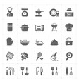 icon set - kitchen utensils and cooking vector image vector image