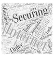 Internet security business Word Cloud Concept vector image