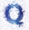 letter Q low poly vector image vector image