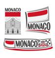 logo for monaco vector image vector image