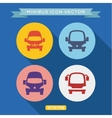 logo icon buses into a flat vector image vector image