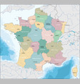 map of french republic vector image vector image