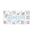 mission outline modern banner business vector image vector image