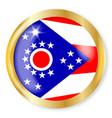 ohio flag button vector image vector image
