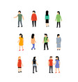 person isometric people man vector image