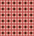 Pink square pattern background vector image vector image