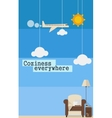 Poster about comfortable travel vector image vector image