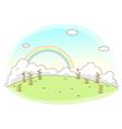 Rainbow Sky Landscape vector image