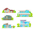 real estate houses and cottage buildings vector image vector image