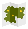Road map icon flat style