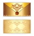 royal gold greeting card vector image vector image