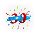 sale discount design with ribbon vector image vector image
