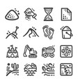 sand icon set vector image vector image