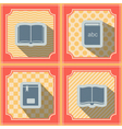Seamless background with books vector image