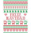 seamless feliz navidad scandinavian style pattern vector image vector image