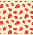 seamless pattern with meat vector image vector image