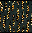 seamless with malt beer pattern isolated on a vector image vector image