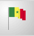 senegal waving flag creative background vector image vector image