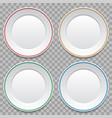 set empty white dinner plates vector image vector image