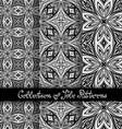 Set of 3 Seamless Vintage Patterns vector image