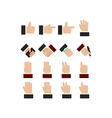 Set of hands icons vector image vector image