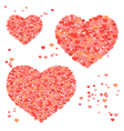 Set of valentines day hearts vector image vector image