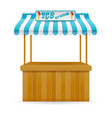 street food stall ice cream vector image