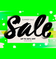 summer sale banner template green background vector image vector image