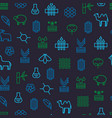 symbols of fabric feature seamless pattern vector image vector image