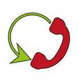 telephone circule flat vector image vector image