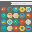Trendy detailed tourism icon set vector image