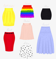 Types of skirts vector image vector image