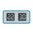 vintage flip clock retro style time measuring vector image