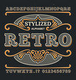 vintage western 3d typography gothic retro vector image