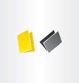 yellow and black folders icons design vector image vector image