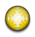 Yellow Flower App Icon vector image