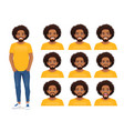 young african man expression set vector image vector image