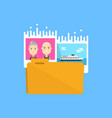 pictures folder icon flat vector image