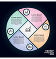 circle infographic Template for cycle diagram vector image