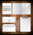 corporate identity template empty business vector image