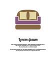 Vintage Brown Sofa vector image