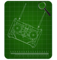 3d model of radio remote control on a green vector image vector image