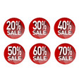 a set of stickers with discounts vector image