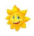 beautiful cartoon sun vector image