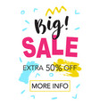 big sale mobile banner template vector image vector image